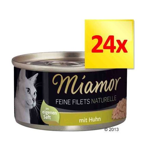MIAMOR Feine Filets Naturelle - filety mięsne smak: kurczak i szynka 24x80g (42017158)