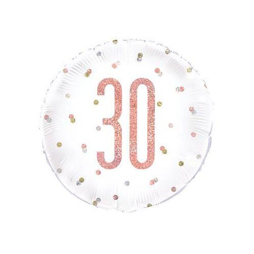 Balon foliowy różowe złoto - 30 - 46 cm - 1 szt. marki Unique