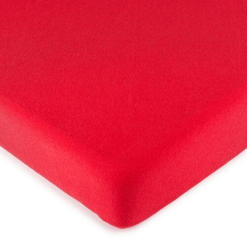 4Home prześcieradło jersey, czerwone, 140 x 200 cm