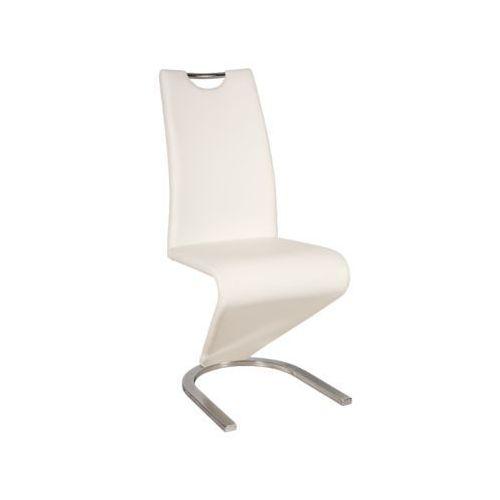 Krzesło H-090 white chrom, kolor biały