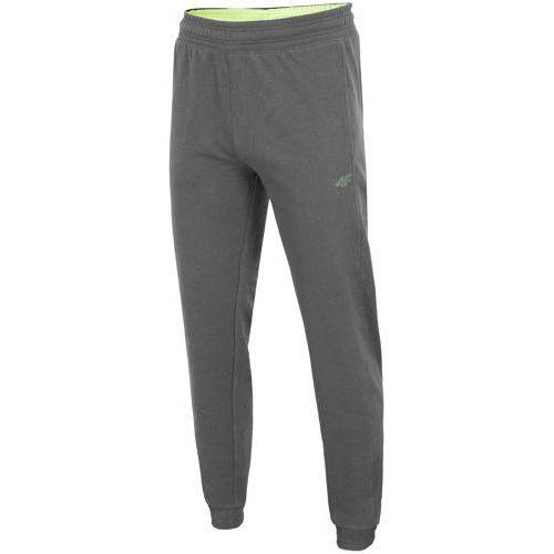 Spodnie dresowe męskie SPMD001 4F - Ciemny szary, dresowe