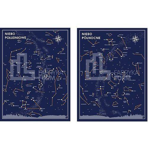 Follygraph Plakat niebo południowe i niebo północne w zestawie 2 szt.
