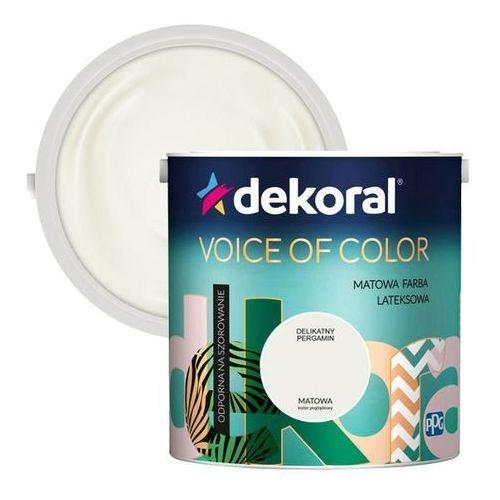 Farba Dekoral Voice of Color delikatny pergamin 2,5 l, kolor czerwony