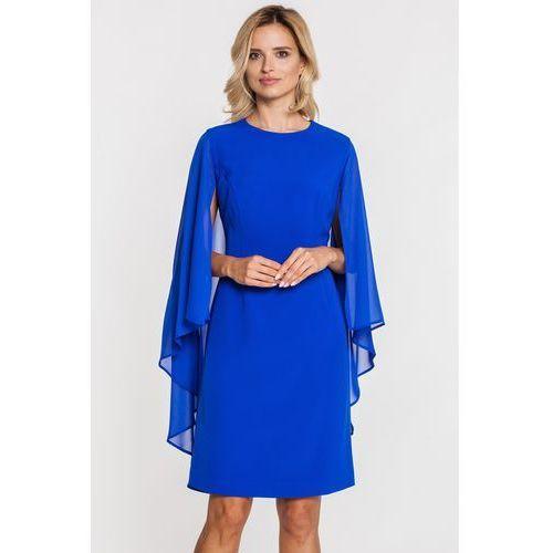 Niebieska sukienka z peleryną - Metafora, kolor niebieski