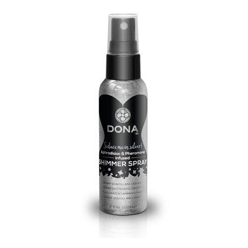 Spray do skóry - liż i całuj feromony - Dona Shimmer Spray Srebrny