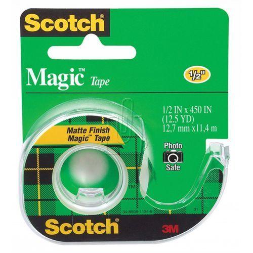 3m Taśma biurowa  scotch magic matowa z dyspenserem 13mm x 11,4m