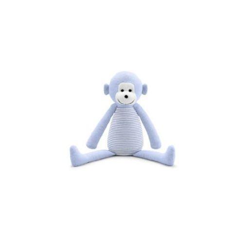 Bellybutton przytulanka małpka white light blue striped
