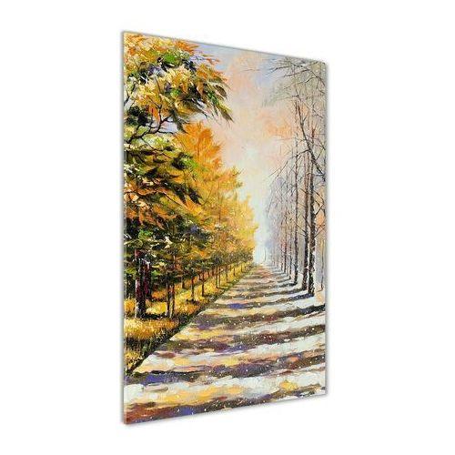 Foto obraz akrylowy do salonu Zima i jesień