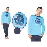 Piżama męska ben: błękit/granat marki Italian fashion
