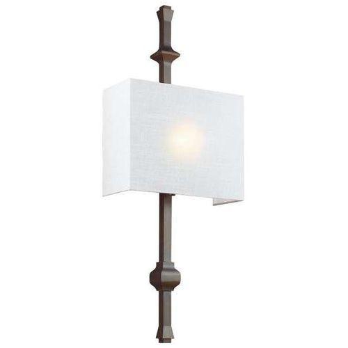 Kinkiet LAMPA ścienna FE/TEVA1 ANBZ Elstead FEISS abażurowa OPRAWA klasyczna prostokątna brąz biała (5024005327417)