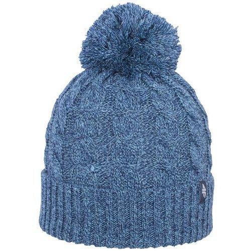 4f Damska czapka z pomponem z17 cad013 granatowy melanż s/m