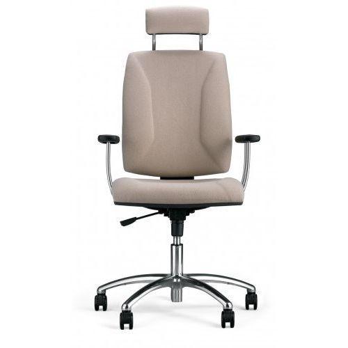 Krzesło obrotowe QUATRO hru gtp25i steel04 chrome - biurowe z zagłówkiem, fotel biurowy, obrotowy