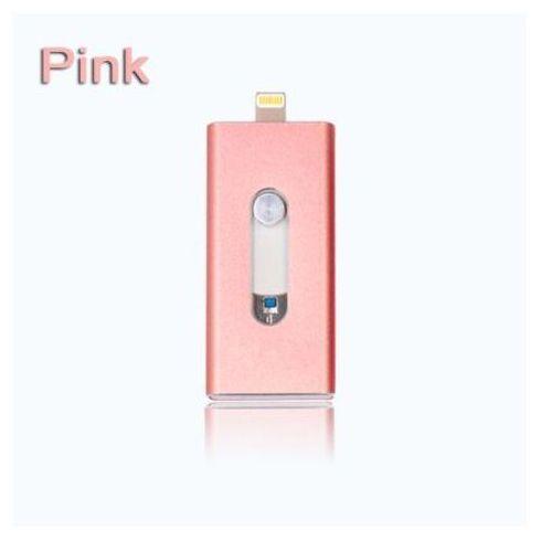 Micro usb + otg usb dla iphona (różowy, 32gb) - różowy \ 32 gb marki E-webmarket