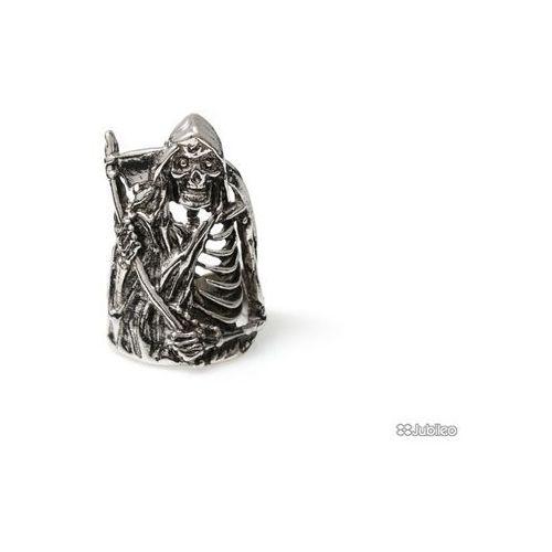 PIERŚCIEŃ MĘSKI ŚMIERĆ Z KOSĄ metal rock styl motocyklowy śmierć