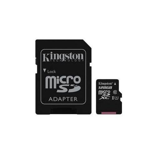 Karta pamięci Kingston MicroSDXC 128GB UHS-I U1 (45R/10W) + adapter (SDC10G2/128GB)