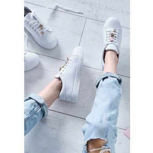 Białe buty sportowe golden heart marki Vices