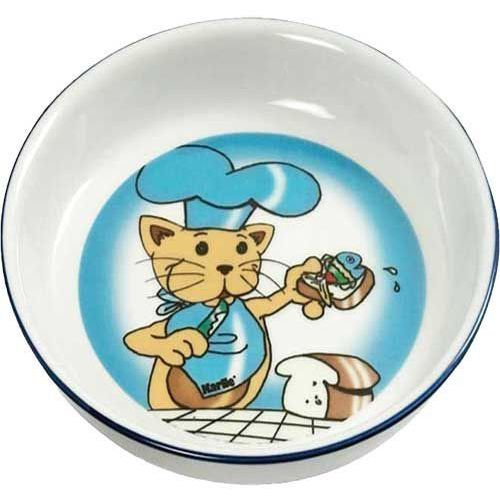 Ceramiczna miska dla kota z kolorowym nadrukiem