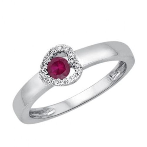 Złoty pierścionek PBD3865 - Diament, kolor żółty