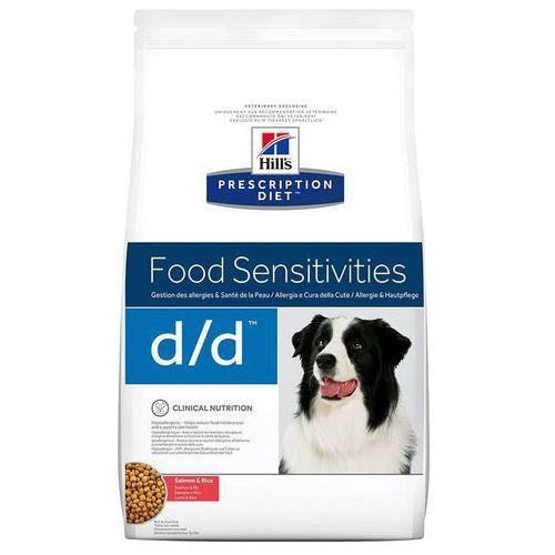 d/d food sensitivities, łosoś i ryż - 12 kg  darmowa dostawa od 89 zł i super promocje od zooplus! marki Hills prescription diet