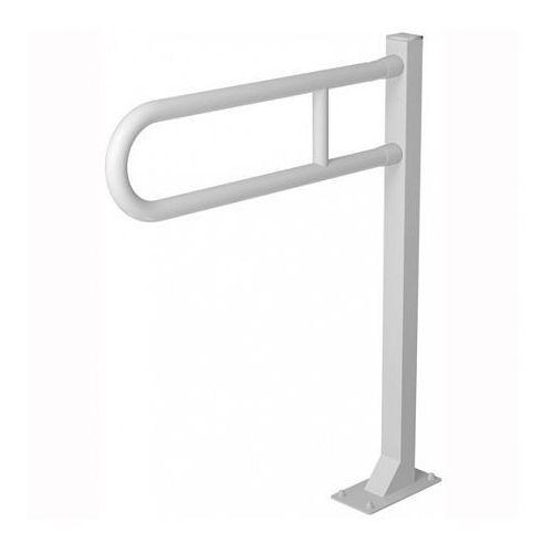 Faneco Poręcz uchylna stojąca dla niepełnosprawnych 600 mm biała
