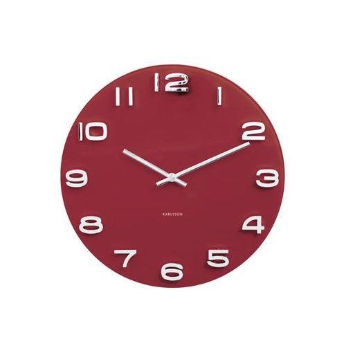 Zegar ścienny Vintage Round burgund red by Karlsson