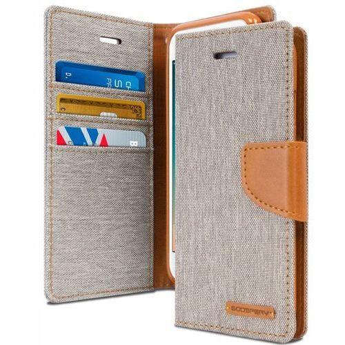 Mercury Canvas Diary - Etui iPhone 6s / iPhone 6 z kieszeniami na karty + stand up (szary/camel) - Szybka wysyłka - 100% Zadowolenia. Sprawdź już dziś!, 1002