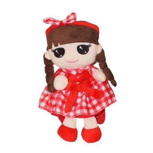Plecak Lalka Kaja czerwony 38 cm (GXP-607334), kolor czerwony