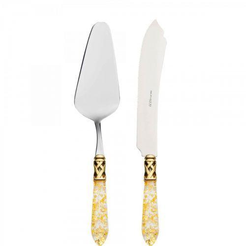 Aladdin gold- łopatka do ciasta + nóż do krojenia ciasta / kolor perłowa kość słoniowa marki Bugatti