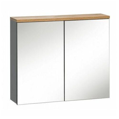 Szafka łazienkowa z lustrem - marsylia 6x grafit 60 cm marki Producent: elior