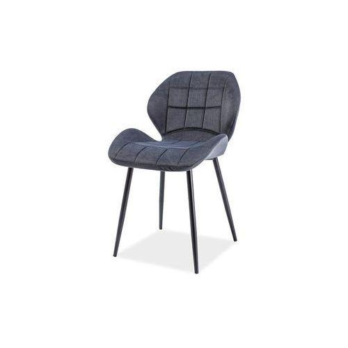 Krzesło hals grafitowy materiał marki Signal meble