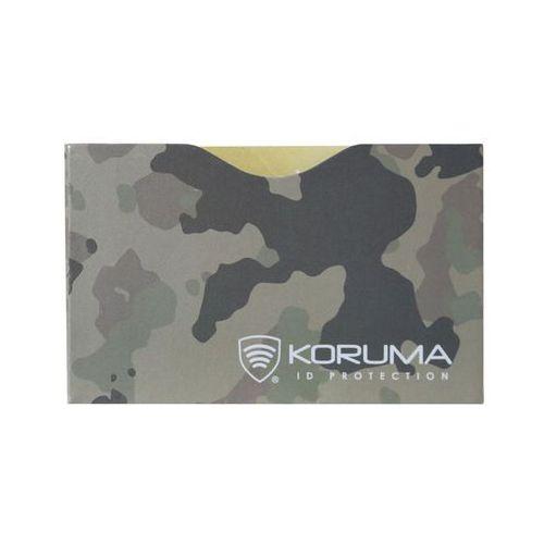 ✅ etui rfid zabezpieczające karty zbliżeniowe skanowaniem kradzieżą - poziome etui antykradzieżowe na karty zbliżeniowe (pustynne moro) marki Koruma®