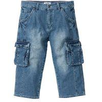 Dżinsy 3/4 z kieszeniami z boku nogawki regular fit niebieski, Bonprix