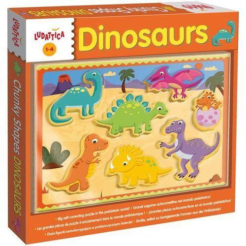 Ludattica chunky shapes dinozaury marki Lisciani
