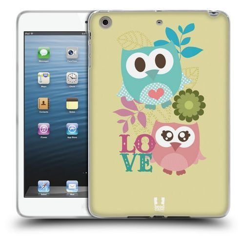 Etui silikonowe na tablet - Kawaii Owl PINK AND BLUE LOVE, kolor niebieski