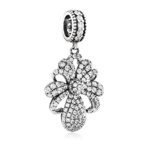 Murrano Charms koralik srebrny wytworna kokarda