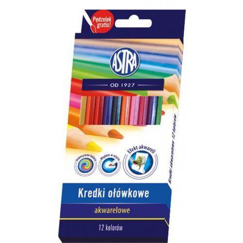Kredki ołówkowe akwarelowe 12 kolorów marki Astra