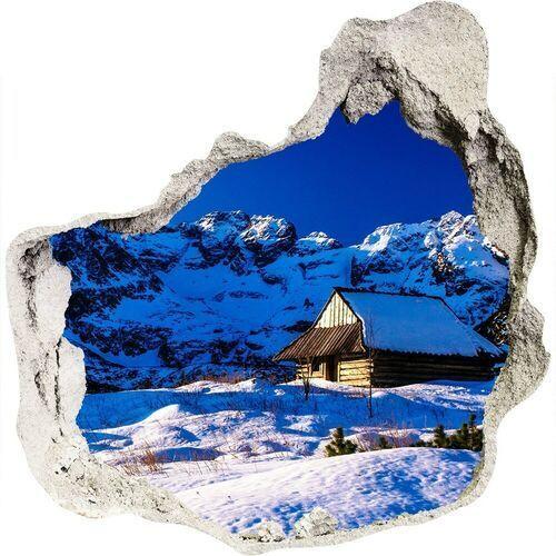 Dziura 3d w ścianie naklejka Domy w Tatrach