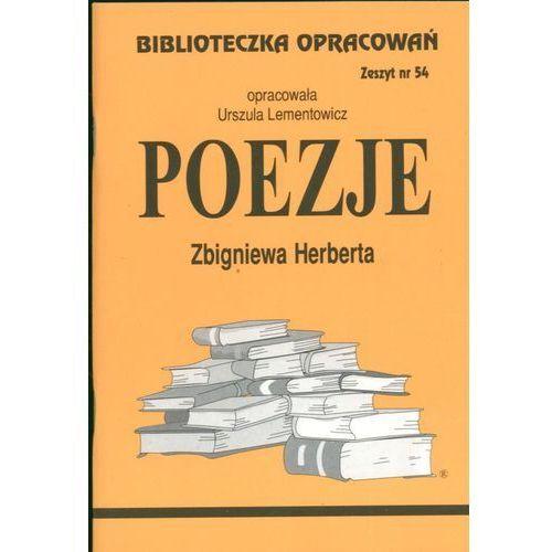 Biblioteczka Opracowań Poezje Zbigniewa Herberta (838658162X)