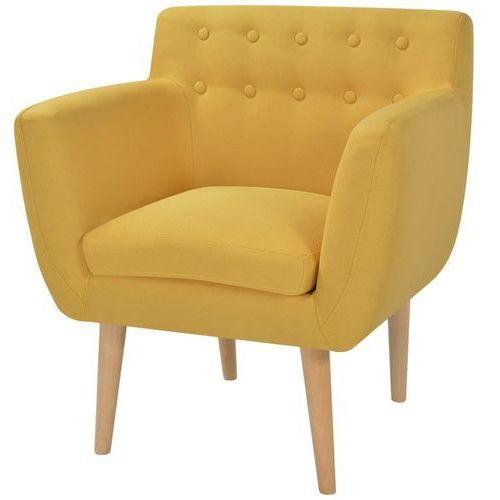 Vidaxl fotel 67x59x77 cm, żółty materiał (8718475529422)