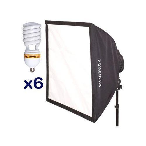 Funsports Z softboxem 6-świetlówkowym SQ-606 60x60cm + 6x świetlówka 30W