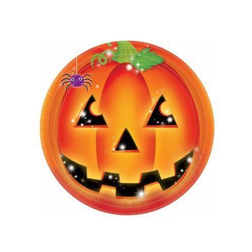 Talerzyki z dynią na Halloween - 23 cm - 8 szt. (0013051452063)