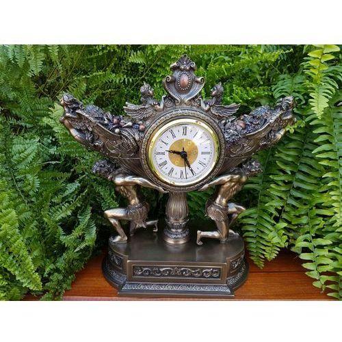 Okazały barokowy zegar - siłacze (wu76007a4) marki Veronese