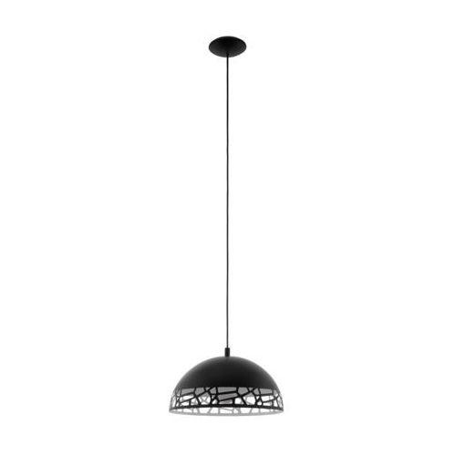 Lampa wisząca Eglo Savignano 97441 380 mm oprawa sufitowa 1x60W E27 czarny/biały, kolor Biały