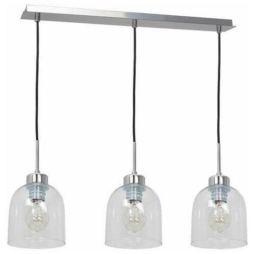 Luminex fill 1737 lampa wisząca zwis 3x60w e27 chrom/transparentna (5907565917376)
