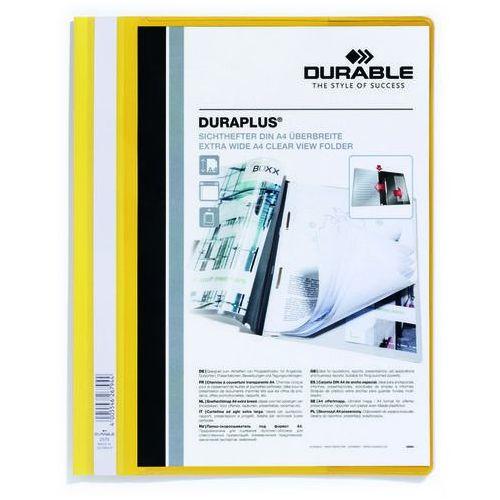 Skoroszyt plastikowy duraplus a4 żółty marki Durable