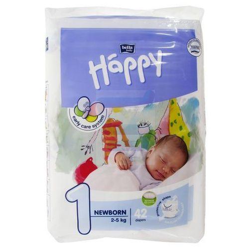 Pieluszki Happy Newborn 6x42 szt. + 50% taniej Oilatum Żel 2w1 300ml, BB-054-NB42-008