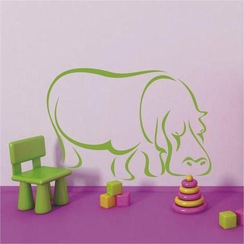 Naklejka hipopotam 58 marki Wally - piękno dekoracji