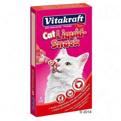 Vitakraft cat liquid snack 6 szt. wołowina + inulina- rób zakupy i zbieraj punkty payback - darmowa wysyłka od 99 zł