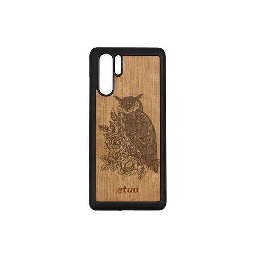 Etuo wood case Huawei p30 pro - etui na telefon wood case - czereśnia - sowa
