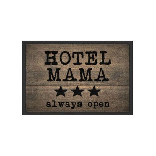 """Wycieraczka """"hotel mama"""" brązowy marki Bonprix"""